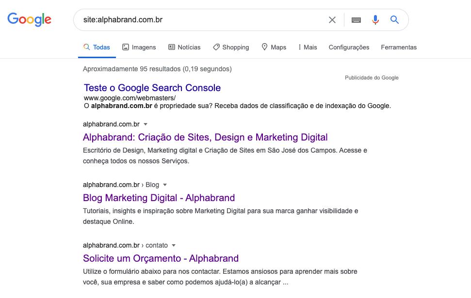 Análise de SEO: como ver se um domínio está indexado pelo Google.